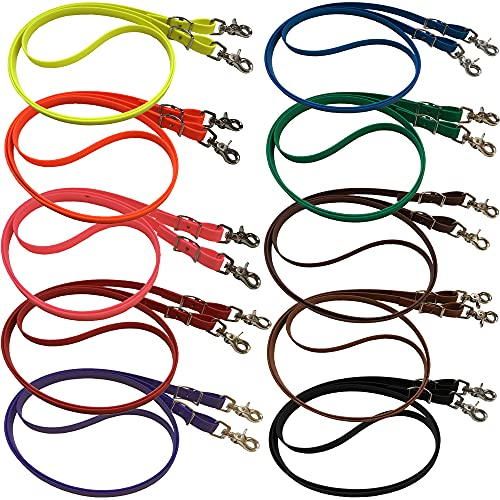 bio-leine Geschlossene Zügel für Pferd Pony - 2,50 bis 3m lang I 12-19mm breit I Pferdezügel aus BioThane I schmutz- und wasserabweisend I Gummizügel in 20 Farben