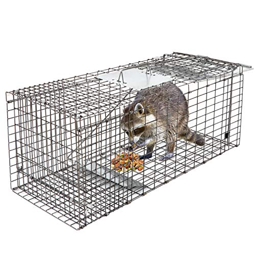 HomGarden Live Animal Trap 32'x12.5'x12' Catch Release Humane Rodent Cage for Rabbits, Groundhog,...