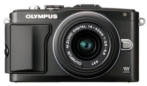 Olympus E-PL5 Mirrorless Digital Camera with 14-42mm Lens (Black)