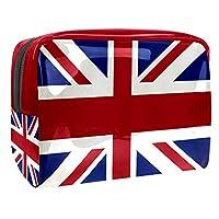 メイクアップバッグトイレタリーバッグ化粧品オーガナイザー女性用ジッパーポーチ英国国旗