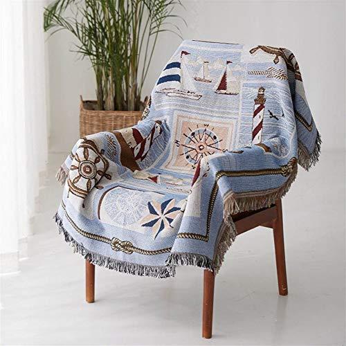 BZRXQR Versátil Sofá Decorativo General for la Sala de Estar de Fundas de Punto Tema Throw Mantas Manta Mantel Tapiz sofá (Color : 1, Size : 130x160cm)