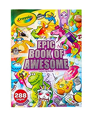 Crayola Epic Book of Awesome, All-in-One Coloring Book Set, 288 Animal Coloring Pages, Gift for Kids, Age 3, 4, 5, 6