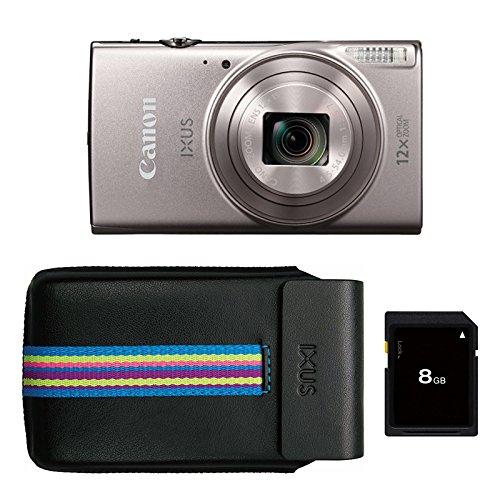 """Canon IXUS 285 HS Appareil-Photo Compact 20, 2 MP 1/2.3"""" CMOS 5184 x 3888 Pixels Argent - Appareils Photos numériques (20, 2 MP, 5184 x 3888 Pixels, CMOS, 12x, Full HD, Argent)"""