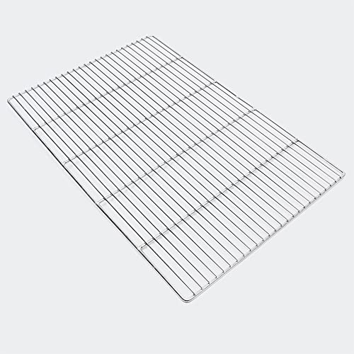 Wiltec Edelstahl Grillrost eckig 60 x 40 cm rostfrei für Holzkohlegrill, Gasgrill und andere