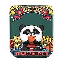 マウスパッド と リストレスト、 人間工学的 メモリーフォーム ゲーム用マウスパッド と 滑り止め ベース デスクアクセサリー パンダ 装飾マット (Color : Panda, Size : 25x21cm(10x8inch))