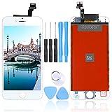 LL TRADER Pantalla para iPhone 6 Blanca 4.7', Táctil LCD de Vidrio de Repuesto Ensamblaje de Marco Digitalizador con Herramientas
