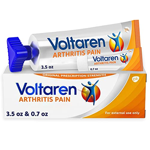 Voltaren Arthritis Pain Gel for Topical Arthritis Pain Relief, #1 Doctor Recommended Topical Pain Relief Brand, No Prescription Needed - 3.5 oz/100 g Tube (Plus 0.71 oz/20 g Sample Tube)