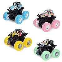 慣性四輪ドライブオフロード車、摩擦駆動モンスタートラックおもちゃ - プッシュゲーム耐衝撃車車トラックPlayset、子供の誕生日パーティー用品贈り物3歳 (Color : A)