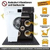 Hinrichs Antivibrationsmatte für Waschmaschinen - 60 x 60 cm Antirutschmatte Waschmaschine - Zuschneidbare Lärmschutzmatte als Waschmaschinenunterlage - Rubber Mat… - 6