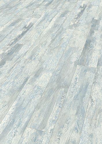 EGGER Home Designboden grau - Winsford Eiche blau EHD016 (5mm kompakt, 1,989 m²) Klick Design Laminat robust, strapazierfähig, pflegeleicht, wasserfest und PVC frei