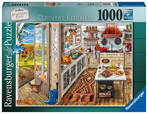 Ravensburger Puzzle 1000 Pezzi, Country Kitchen, Collezione Fantasy, Jigsaw Puzzle per Adulti, Puzzle Ravensburger - Stampa di Alta Qualità