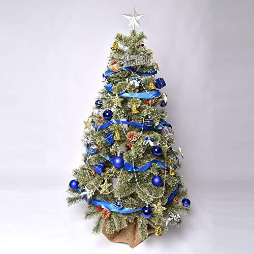 北欧風 クリスマスツリーセット オーナメント付き イルミネーション ショップ用 店舗用 収納箱付き インテリア Xmas tree 150cm ブルー