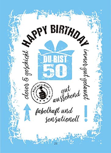 Alles Gute zum 50. Geburtstag Geldgeschenk Buch Piccolo mit Blattgold Kräuterlikör Schnäpse Zollstock Geldgeschenk für Männer und Frauen als Geburtstagsgeschenk (Alles Gute 50 mit Piccolo) - 5