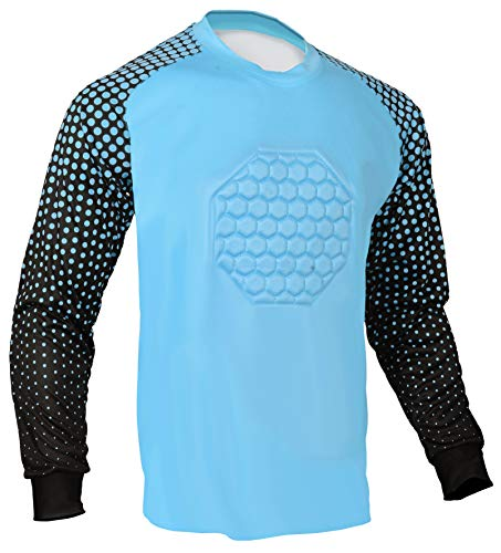 Soccer Goalie Shirt (Columbia Blue, Youth Medium)