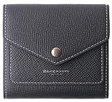 Borgasets Women's RFID Blocking Small Compact Bifold Leather Pocket Wallet Ladies Mini Purse (Crosshatch Black)