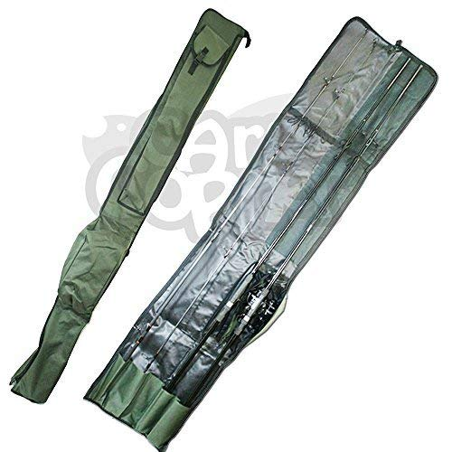 Carp Fishing Tackle Rod Holdall Bag For 2 Made Up & 2 Unmade Rods & Reels