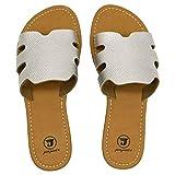 JIAJIALE Sandalias Niña Mujer Verano 2020 Cuña Baratas con Planas Ortopedicas Calzado para Comodas Playa Biomecanics Zapatos Mules Mujer Romanas Zuecos Plateado Talla 41
