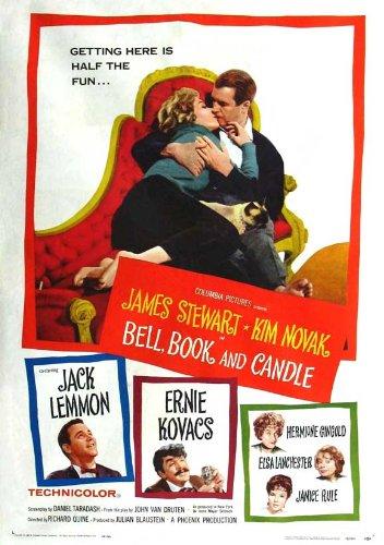 Pop Culture Graphics Bell Book and Candle Poster Movie 11x17 James Stewart Kim Novak Jack Lemmon Ernie Kovacs