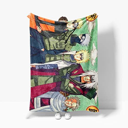 Manta estampada con temática de anime para los amantes del anime, diseño de anime de franela, para decoración doméstica, manta de sofá, cama, fácil de transportar (100 cm x 130 cm)