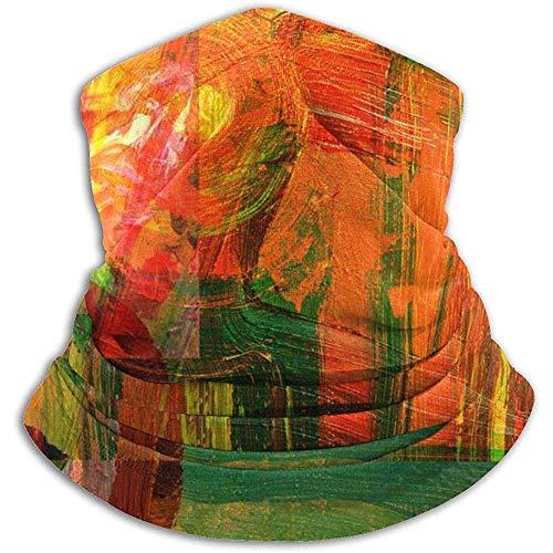 Linger In Sehr schönes Bild eines originalen, großformatigen, abstrakten Gemäldes aus Segeltuch, Halswärmer, Gamasche, Skimaske, kaltes Wetter, Motorradmaske