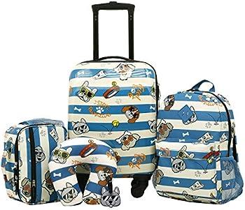 5 Piece Travelers Club Kids Luggage Travel Set