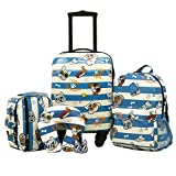 Travelers Club Kids' 5 Piece Luggage Travel Set, Cool Dog