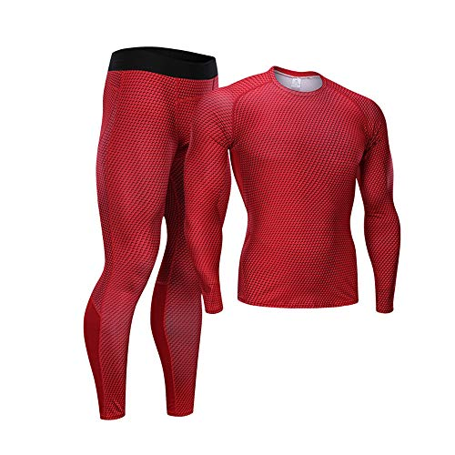 FZmix Men's Compression Underwear Set, Quick Dry Sports T Shirt, Gym Leggings for Running Cycling, Base Layers Tights for Workout Training Running Tracksuits