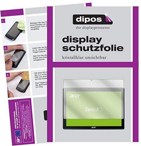 dipos I 2X Schutzfolie klar kompatibel mit Acer Switch 3 SW312-31 Folie Bildschirmschutzfolie