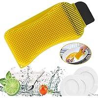 Esponja de silicona 4 piezas de esponja antibacteriana de silicona multiusos para lavar platos y esponja de limpieza de suciedad para cocina