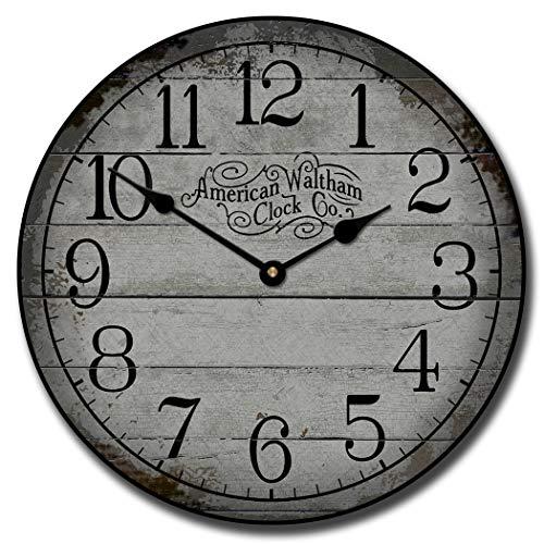 None Brand American Waltham Gray Reloj de pared redondo