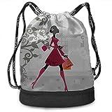 OKIJH Mochila Mochila de ocio Mochila con cordón Mochila multifuncional Bolsa de gimnasio Gym Zip Bags Fashion Beauty Women Go Shopping Gym Drawstring Bags Backpack Sports String Bundle Backpack For S