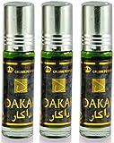 Set de 3 Almizcle Musk DAKAR Al Rehab 6ML Perfumes de Mujer Perfumes Hombre Attar Perfume Sin Alcohol 100% de Aceite Almizcle Oud Roll on, NOTAS: Amaderado, Terroso, Aromático, Cálido