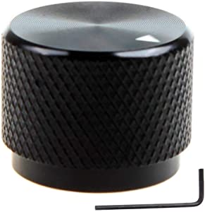 DIKAVS Solid Machined Metal Amplifier Knob Black Aluminum Rotary Control Potentiometer Knob Knobs 20 x 15.5mm