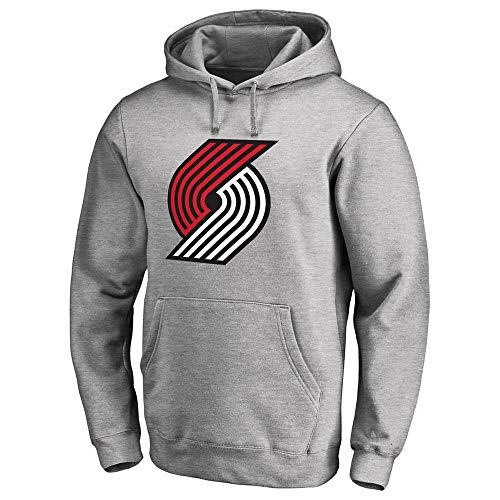 QAZW NBA Sweater Trail Blazers Lillard Hooded Hoodie United States Four Major Leagues Basketball Jerseys Grey-M