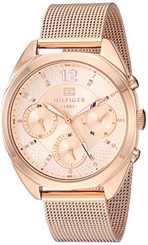 Tommy Hilfiger 1781896 - Reloj de cuarzo para mujer, acero inoxidable, color oro rosa