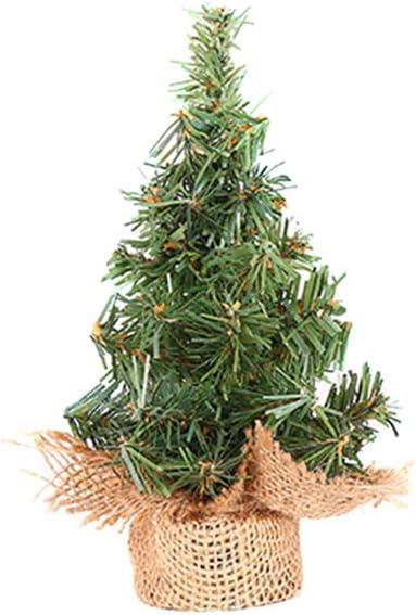 Ranking TOP11 DEIHENG Artificial Christmas Tree Mini Superlatite Christ Burlap Base Pine
