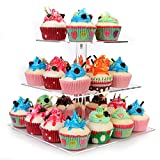 Food Grade premium Acrylic environmental protection material, not normal plastic,can be used for displaying cupcakes,cakes,dessert,pastry, food and more The 3 tiered cupcake display can hold about 30 piece normal cupcakes, each size 6,8,10 inch, and ...