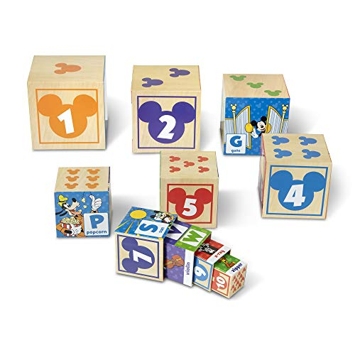 Melissa & Doug Mickey Mouse ABC-123 Nesting And Stacking Blocks