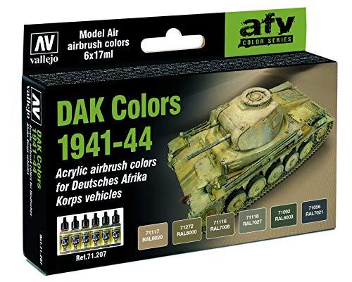 Vallejo AV Model Air Set-DAK Colors 1941-1944 Vernici da Utilizzare con Un aerografo, Multicolore, 17ml