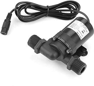12V Mini bomba de agua de CC Rodamiento sin escobillas Bomba de agua de tubo de doble canal para sistema de circulación de agua de calentador de agua solar de piscina de fuente -40℃-100℃