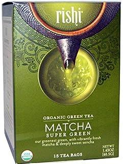 Rishi Tea Matcha Super Green Herbal Tea | Immune Support, USDA Certified Organic Sencha, Highly Caffeinated, Umami, Antiox...