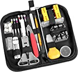 Watch Repair Kit, Ohuhu 174 PCS Watch Battery Replacement Tool Kit, Watch Link Removal Tool, Watch Back Remover Tool, Watch Tool Kit, Professional Watch Repair Tools with Carrying Bag, User Manual