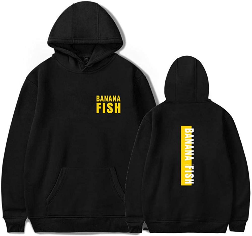 BINGXINK 3D Unisexe Banana Fish Hommes Femmes Sweats /à Capuche Pull /à Manches Longues Hiver Sweat-Shirts Hoodies