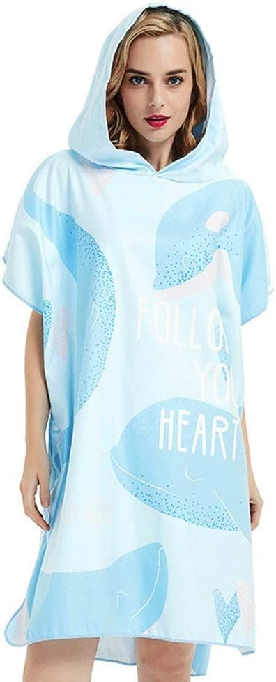 High order DJSMstj Surf Sale price Poncho Towel Hearts Can Adults by Be Worn Water-Ab