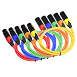 XLR-M A XLR-F 3 Pines Mejores Contactos Cable De Audio De Micrófono Balanceado 5 Colores 3 Pies