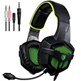 SADES SA807 Gaming Headset for Xbox One PS4 PC Laptop Mac Tablet Smartphone