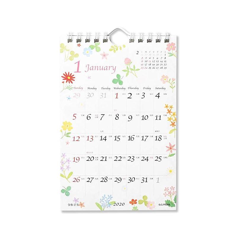 二週間下手是正G.C.PRESS カレンダー フルール 卓上?壁掛