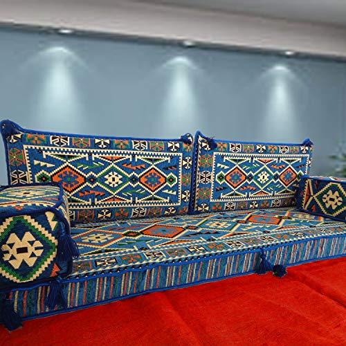 Spirit Home Interiors Majlis-Sofa auf der bodenebenen Ebene im arabischen Stil mit Innenfüllungen / SHI_FS242