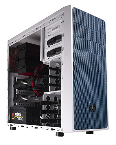 BitFenix BFC-NEO-100-WWXKB-RP Neos Midi-Tower PC-Gehäuse (ATX, 2X 5,25 Externe, 2X 3,5 interne, USB 3.0) weiß/blau