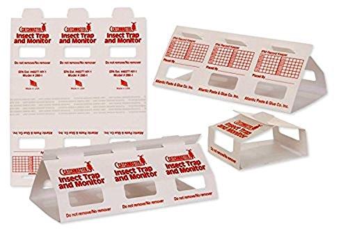 Insect Trap & Monitors 288i - No Chemicals !!!- Non-Toxic Glue Traps!! 5 Glue Boards / 15 Monitors